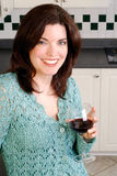 Drinking Wine Royalty Free Stock Photography