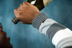 Drinking wine royalty free stock images