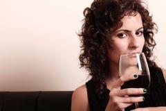 Drinking wine Stock Photography