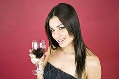 drinking wine woman Στοκ φωτογραφία με δικαίωμα ελεύθερης χρήσης