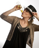 Drinking Woman Royalty Free Stock Image