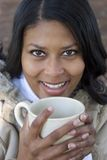 Drinking Woman Royalty Free Stock Images