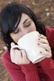 Drinking Woman Stock Image