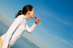 Drinking Woman stock images