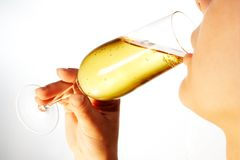 Drinking woman 7 Stock Images