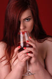 Drinking woman Royalty Free Stock Photography