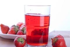 drinkjordgubbe Royaltyfria Bilder