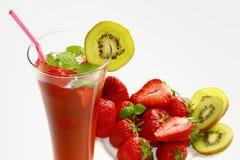 drinkjordgubbe Royaltyfri Bild