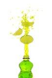 drinklimefruktfärgstänk Arkivfoton