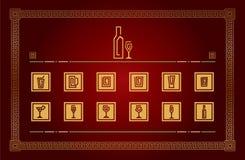 Drinkpictograms Vektor Illustrationer