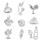 Drinks. Vector Sketch Set of Drinks Stock Image