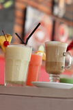 Drinks. A few glasses of drinks in a restaurant Royalty Free Stock Photo