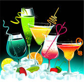 Drinks. Set of different fine drinks Royalty Free Stock Images