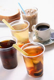 Drinks. Asian popular drinks and coffee Royalty Free Stock Photos