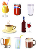 Drinks. Illustration of drinks for different occasions stock illustration