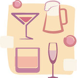 Drinks. Retro Style illustration of Drinks Royalty Free Stock Photography