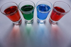 Drinks. Alcohol lime background party bar green red art colors blue Stock Photos
