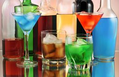 Drinks arrangement Royalty Free Stock Photo