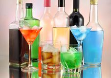 Drinks arrangement Royalty Free Stock Photos