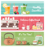 Drinks banner set Royalty Free Stock Photography