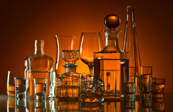 Drinks in bar Stock Photography