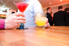 Drinks in bar Royalty Free Stock Images