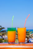 Drinks on a beach Royalty Free Stock Photography