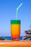 Drinks on a beach stock photos
