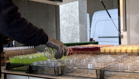 Drinks being poured, Belgium Royalty Free Stock Photography