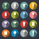 Drinks and beverages icon set Royalty Free Stock Photo