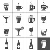 Drinks and beverages icons Stock Photos