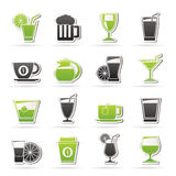 Drinks and beverages icons Stock Image