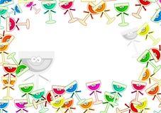 Drinks border Stock Image