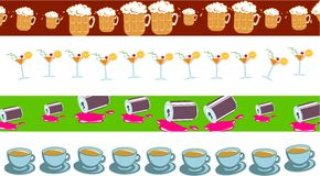 Drinks border Royalty Free Stock Images