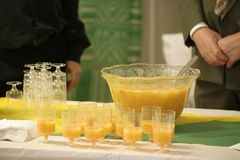 Drinks buffet Stock Images