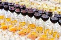 Drinks on buffet table Stock Photos