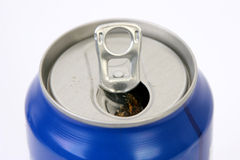 Drinks Can. Can of soda - detail of the top Royalty Free Stock Image