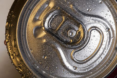 Drinks Can. The top of a metal drinks can showing the ring-pull opener Stock Images