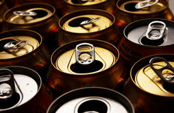 Drinks Cans. A collection of empty drinks cans Royalty Free Stock Photo