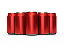 Drinks cans red Royalty Free Stock Photography