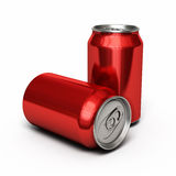 Drinks cans red Stock Photography