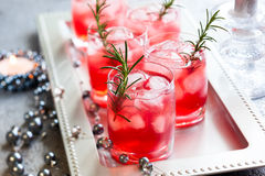 Drinks for Christmas Stock Photos