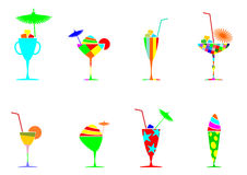 Drinks and cocktails set. Stock Photo