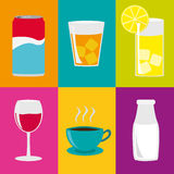 Drinks Collage Royalty Free Stock Photo