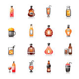 Drinks Colorful Icons Royalty Free Stock Images
