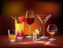 Drinks Decorative Set Royalty Free Stock Photography