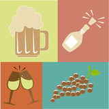 Drinks design. Drinks  design over colors background vector illustration Stock Photo