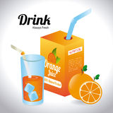 Drinks design Royalty Free Stock Images
