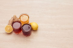 Drinks of different colours Royalty Free Stock Photo