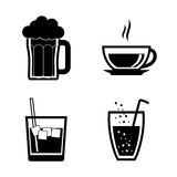Drinks digital design. Stock Photography